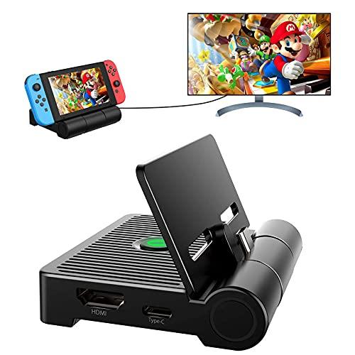 ShinePick Switch Docking Station, Faltbare Typ C Switch Ladeständer mit 1080P HDMI USB 3.0/2.0 Port, TV/Desktop Modus Switch TV Dock mit Belüftung Ausgelegt für Alltag Reisen