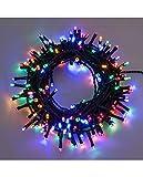 Xmasking Catena Luminosa con 180 LED con Giochi di Luce, Multicolore, 7.5 cm...