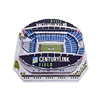 FOCO NFL Seattle Seahawks Team Football Stadium PZLZ 3D Paper Model Puzzle KitTeam Football Stadium PZLZ 3D Paper Model Puzzle Kit, Team Color, One Size, PZLZNF3DSTADLRG
