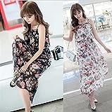 Vestido de Verano para Mujer con Hombros Descubiertos, Vestidos de Flores, Vestido Informal de Camiseta, Vestido de Playa (Color : White, Size : Medium)