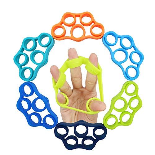 Aparato entrenamiento de dedos, 6 unidades, entrenamiento de dedos, 3 niveles de...