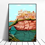 N / A Sardinien Kunst Leinwand Poster Home Decoration