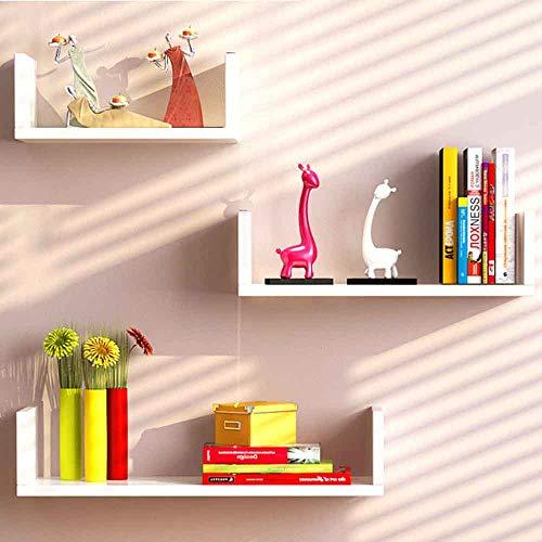 Estantería de pared HAIZHEN para almacenamiento de pared, estante de pared para televisores, fondos, decoración de pared, estante en forma de U, estante de esquina de gran estabilidad