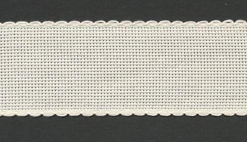 Stitchtastic Bande Aida 5 cm de large (14 points) – Ivoire/crème
