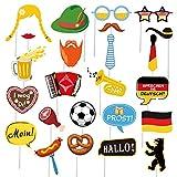 SUNBEAUTY Deutsche Foto Requisiten 24er Set Photo Booth Props Germany Party Dekoration Deutschland Oktoberfest Deko
