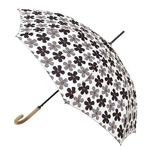 Paraguas Vogue Estampado. Paraguas Mujer, Elegante, de Estilo clásico. Apertura automática, antiviento y Acabado Teflón, Que repele el Agua. (Estampado Flores)