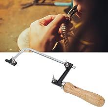 Arco de sierra de arco de madera para manualidades con forma de U en forma de sierra de alambre de la sierra de la joyería de la actividad Zhuo arco fijo de alambre de tracción de la sierra de oro