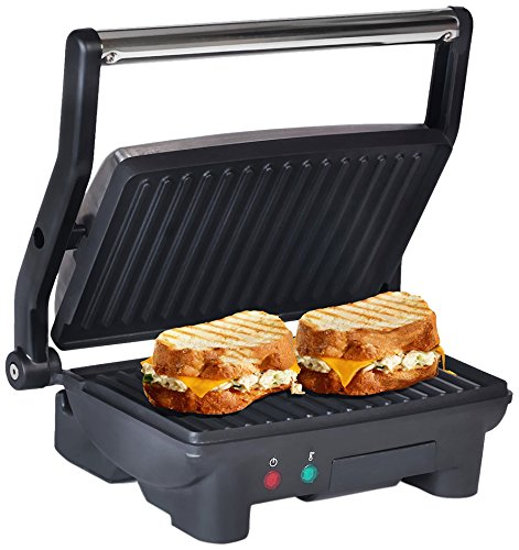 Maxi-Matic Elite Cuisine EPN-2976 Electric Panini Press & Contact, Gourmet Sandwich...