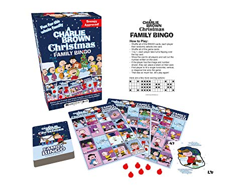 Aquarius Charlie Brown Christmas Family Bingo