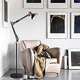 Depuley LED Stehlampe Retro Metall, Schwenkbare...