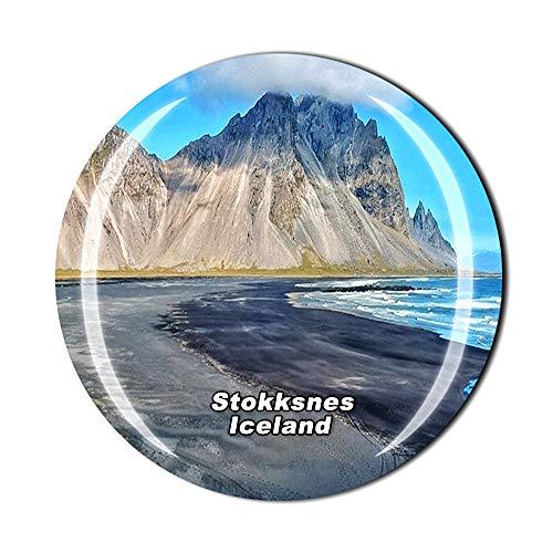 Stokksnes Höfn Islandia - Imán para nevera con diseño de cristal 3D