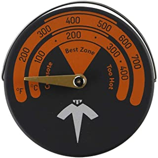 Magnetic Stove Thermometer Wood Burner Pipe Thermometer Home Gauge Chimney Pipe Meter