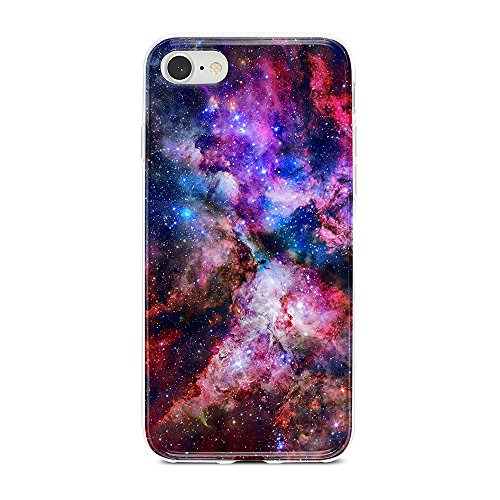 Obbii Case for iPhone 8/7/6/6S/SE 2nd Generation Unique Outer Space Nebula Galaxy Design Matte Slim TPU Flexible Soft Silicone Protective Durable Cover Case Compatible with iPhone 7/8/6/6S/SE 2020