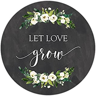 Chalkboard Let Love Grow Stickers, White Watercolor Flowers, Let Love Grow Favor Stickers, Labels, Seed Favors, Love Grow, Favor Stickers, Favor Tags, Garden Wedding Favor Stickers