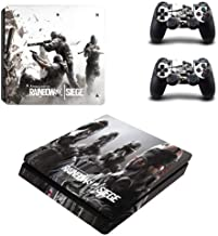 Playstation 4 Slim Skin Set - Rainbow six Siege HD Printing Vinyl Skin Cover Protective for PS4 Slim Console and 2 PS4 Controller by Mr Wonderful Skin