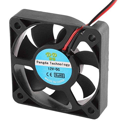 YeVhear DC 12V 5010 50 x 10 mm 7 Ventilador de refrigeración con rodamiento Flabellum para diámetro de la caja de PC
