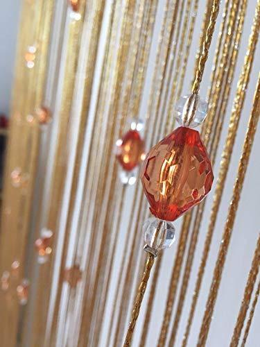 GE&YOBBY Quaste Kristallperlen Schnur Türvorhang,Zimmerteiler Stabtasche Vorhang,Perlen Fringe Fenstervorhang,Für Hochzeit Wohnzimmer Weihnachten Festival