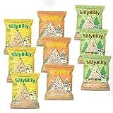 SillyBilly Pack Degustación Triángulos de Arroz Integral - 3 bolsas de cada una de las 3 variedades. (Pack 9 bolsas)