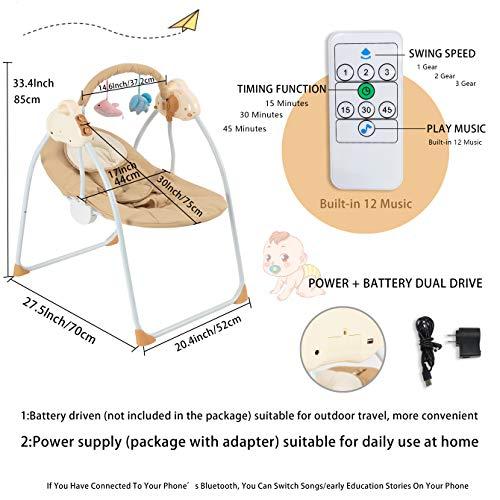51IAkmk9peL 10 Best Portable Baby Swings on the Market 2021 Review