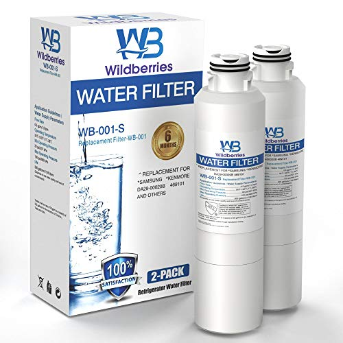 Wildberries DA97-08006A-1 Filtro de agua de repuesto para frigoríficos Samsung, compatible con Samsung DA29-00020B, DA29-00020A, HAF-CIN, HAF-CIN/EXP, 46-9101, 2 unidades