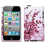 Snap On Protector Hard Case for iPod Touch 4th Generation, 4th Gen Spring Flower Design Pink