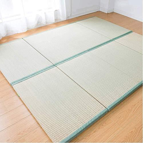 LBYLY Folding Sleeping Mattress Tatami Straw Mat Home Decoration Yoga Mat Traditional Straw Mat Straw Mat Floor Sleeping Mat,75x200cm