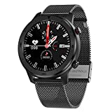 LXZ DT78 Fitness Activity Activity Tracker Smart Watch Pulsera Bluetooth Wearable Wearable Sports Watch Men para Android iOS,M