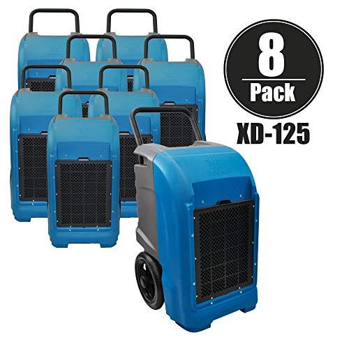 XPOWER XD-125 Déshumidificateur commercial industriel pour cave, grandes pièces, chantiers de travail, traitement des dommages causés par les inondations, l'humidité, et prévient la moisissure et la moisissure - Bleu