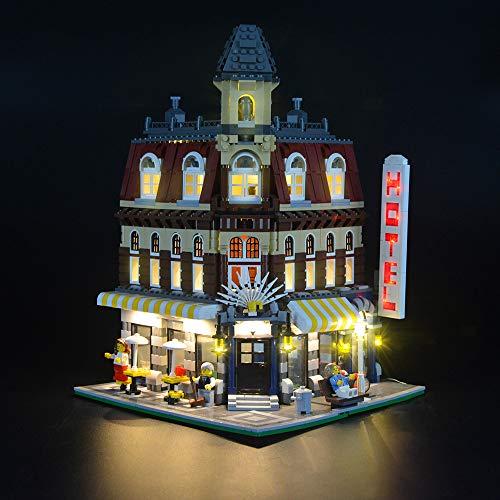 LED-Beleuchtungsset für Lego 10182, Beleuchtungsset, kompatibel mit (Make & Create Cafe Corner) Bausteinmodell (NICHT im Lieferumfang des Modells enthalten)