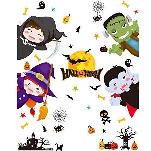 Etiket voor Halloween-kostuums, raamlabel van glas