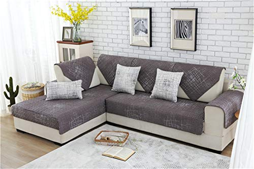 Algodón del amortiguador del sofá de la tela cruzada antideslizante moderna minimalista cojín del sofá de la cubierta Tela simple combinación universal de cuatro estaci ( Color : 2 , Size : 90*160cm )