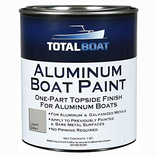 TotalBoat-511796 Aluminum Boat Paint for Canoes, Bass Boats, Dinghies, Duck Boats, Jon Boats and Pontoons (Light Gray, Quart)