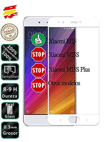 Movilrey Protector para Xiaomi MI5 Blanco Completo 3D Cristal Templado de Pantalla Vidrio Curvo para movil