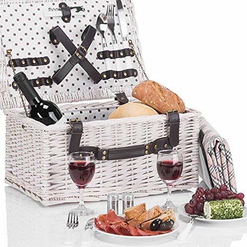 GOODS+GADGETS Wicker picnic basket