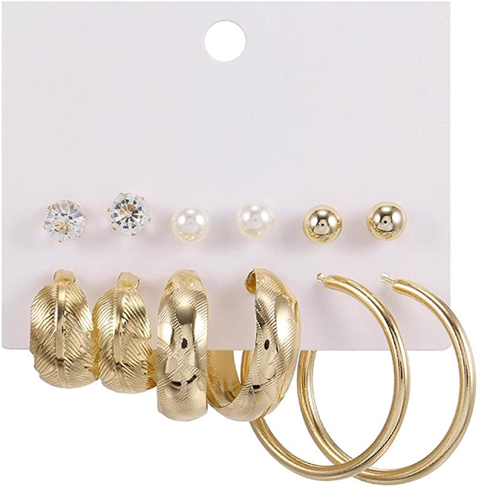 Ladies Earrings6 To The Water Drill Earrings, Large Ear Rod, Personality Earrings
