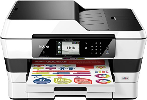 Brother MFC-J6920DW 4-in-1 Farbtintenstrahl-Multifunktionsgerät (Drucker, Scanner, Kopierer, fax, 600 x 1200 dpi, USB 2.0, Duplex) schwarz/weiß