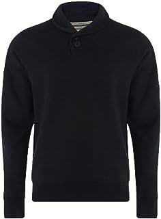 Dissident Men's Long Sleeve Shawl Neck Plain Sweatshirt Top