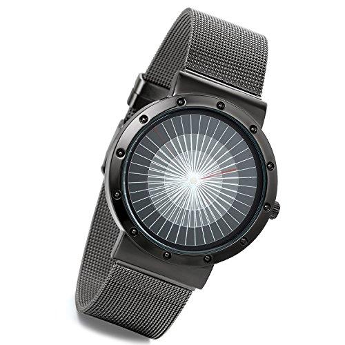 LANCARDO Herren Damen Armbanduhr Analog mit Edelstahl Armband LCD11P012