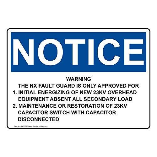 Wendana Kennisgeving Waarschuwing De Nx Fault Guard is Alleen Goedgekeurd Teken, Grappige Tin Metalen Waarschuwingsborden voor Eigenschap, Aluminium, Poortteken, Hek Teken Buiten, 8