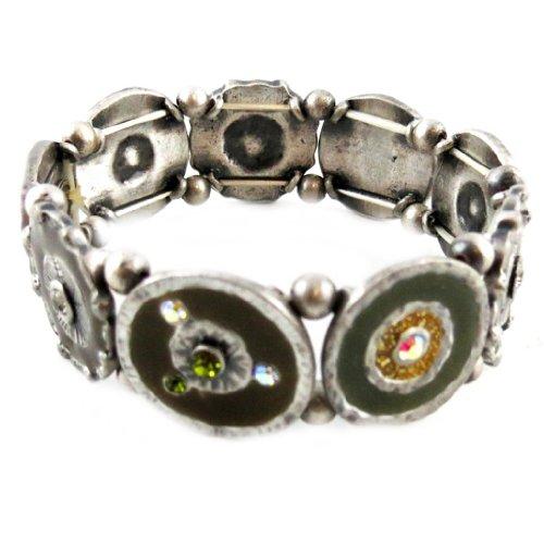 Les Trésors De Lily [E2583] - Armband von 'french touch' 'Mimosas' senf grün braun.