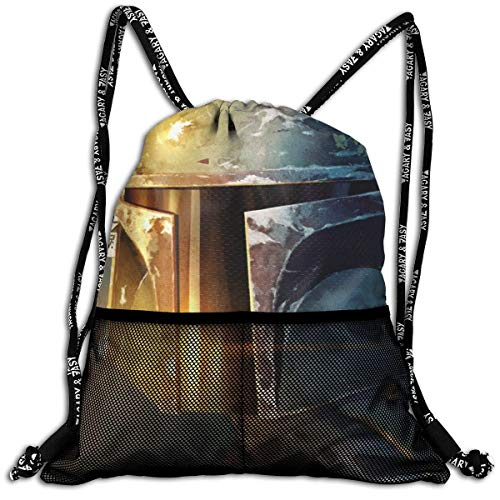 HFXY Boba Fett Bundle Backpack Men and Women General Backpack Portable Multifunctional Fashion Sack Storage Travel Shoulder Bags 16 x 18 Inch