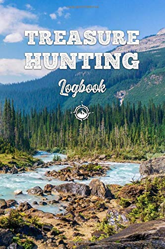 Treasure Hunting Log Book Journal Notebook Diary Planner - Blue River: Geo Hunt Record with 120 Pages In 6