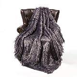 FFLMYUHUL I U Super Soft Faux Fur Throw Blanket & Bedspread Mongolian Fur Blanket Long Faux Fur Blanket Decorative for Bedroom Sofa Floor Champagne