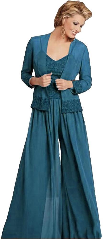 Ai Maria Women's Plus Size Mother Of The Bride Pants Suits With Jacket Applique
