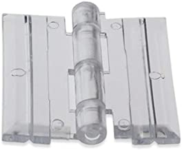Source One Clear Acrylic Plexiglass Lucite Hinge, Pack of 10 (S1-10hinges)