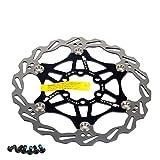 Newgoal Disco de Freno de Disco de Bicicleta, 160mm Bicicleta de montaña Flotante Disco de Freno Centro de Bloqueo...