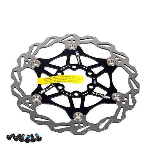 Newgoal Disco de Freno de Disco de Bicicleta, 160mm Bicicleta de montaña Flotante Disco de Freno Centro de Bloqueo Accesorios de Bicicleta(Negro)