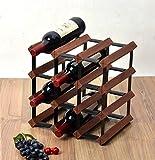 Decoración del hogar Estante para vinos de madera de 4 pisos Estante para botellas de madera y armario de metal Organizador de botellas de vino en la mesa Gabinete para vinos Almacén listo para ens