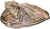 Escultura,Escultura De Estatua Insaciablemente Rica El Señor De Los Anillos Modelo Smaug Artesanía Ventilador Decoración del Hogar 7,8 × 5 × 3,1 Pulgadas