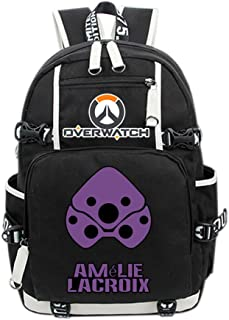 Overwatch Widowmaker Cosplay Backpack Amelie Lacroix Deluxe Canvas School Bag Game Accessories for Teenagers